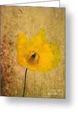 Antique Yellow Flower Greeting Card