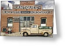 Antiques Blacksmith And Horseshoer Greeting Card