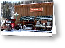 Antiques In The Mountains Greeting Card
