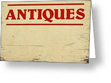 Antiques Sign Greeting Card