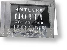 Antler's Hotel Front Door Ghost Town Victor Colorado 1971 1971-2013 Greeting Card