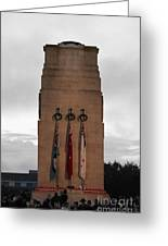 Anzac Day 2014 Auckland Museum Cenotaph Greeting Card