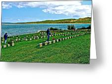 Anzak Cemetery Along The Dardenelles In Gallipolii-turkey Greeting Card