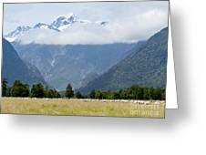 Aoraki Mt Cook Highest Peak Of Southern Alps Nz Greeting Card