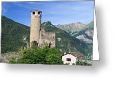 Aosta Valley - Chatelard Ruins Greeting Card