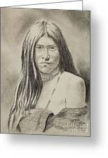Apache Girl 1906 Greeting Card
