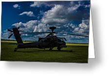 Apache Gun Ship Greeting Card