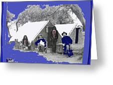 Apache Scouts Soldiers Living Quarters Location And Date Unknown  Greeting Card