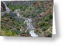 Apache Trail River View Greeting Card