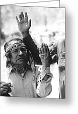 Apache's Signing 100th Anniversary Fort Apache Arizona 1970 Greeting Card