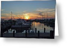 Apalachicola Marina At Sunset Greeting Card
