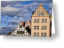 Apartment Houses In Gdansk Greeting Card
