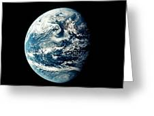 Apollo 11 Image Of Earth Showing Pacific Ocean Greeting Card