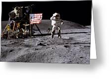 Apollo 16 Lunar Landing Astronaut Young Greeting Card