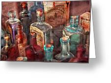Apothecary - A Series Of Bottles Greeting Card