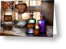 Apothecary - Oleum Rosmarini  Greeting Card by Mike Savad