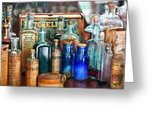 Apothecary - Remedies For The Fits Greeting Card