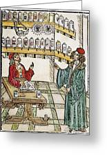 Apothecary Shop, 1500 Greeting Card
