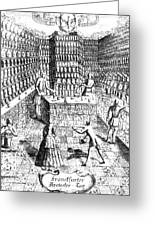 Apothecary Shop, 1688 Greeting Card