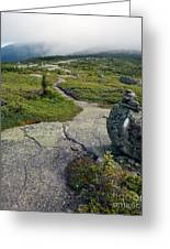 Appalachian Trail Mountain Path Saddleback Maine Greeting Card