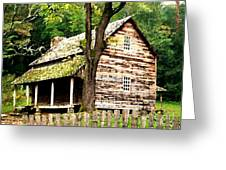 Appalachian Cabin Greeting Card