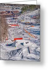 Appalachian Mountain Ski Resort Near Blowing Rock Greeting Card
