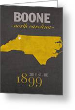 Appalachian State University Mountaineers Boone Nc College Town State Map Poster Series No 010 Greeting Card