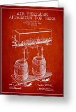 Apparatus For Beer Patent From 1900 - Red Greeting Card