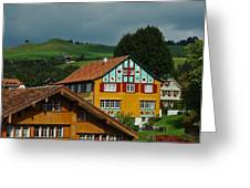 Appenzell Famous Windows Greeting Card