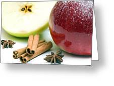 Apple And Cinnamon Greeting Card
