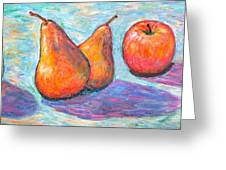 Apple And Pear Twirl Greeting Card