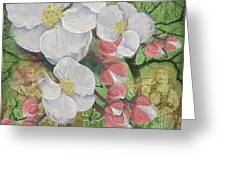 Apple Blossom Collage Greeting Card