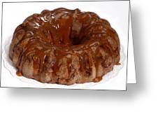 Apple Caramel Bundt Cake Greeting Card