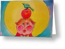 Apple Cheeks Greeting Card