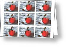 Apple Collage Greeting Card