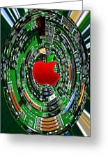 Apple Computer Abstract  Greeting Card