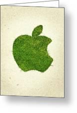 Apple Grass Logo Greeting Card