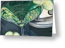 Apple Martini Greeting Card by Debbie DeWitt