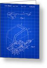 Apple Mouse Patent 1984 - Blue Greeting Card