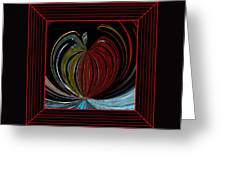Apple Of My Eye In Frame Greeting Card
