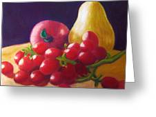 Apple Pear Grapes Greeting Card