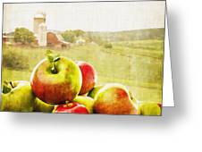 Apple Picking Time Greeting Card by Edward Fielding