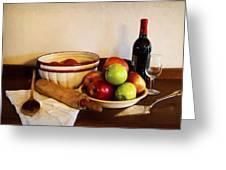 Apple Pie Impressions Greeting Card