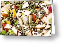 Apple Salad With Capers And Leaf Celery Greeting Card