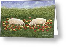 Apple Sows Greeting Card
