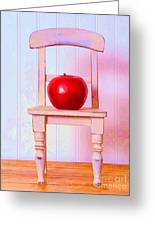 Apple Still Life With Doll Chair Greeting Card by Edward Fielding