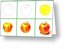 Apple Study Greeting Card