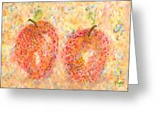 Apple Twins Greeting Card