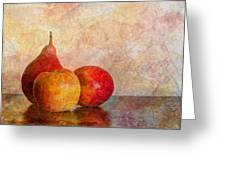 Apples And A Pear Greeting Card