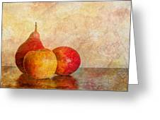 Apples And A Pear II Greeting Card
